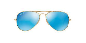 Солнцезащитные очки Ray-Ban Aviator ORIGINAL Gold/ Blue mirror RB3025 58