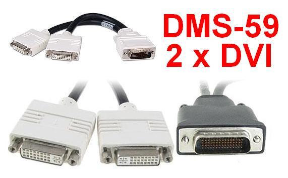 Кабель DMS-59 - DVI для видеокарт на 2 монитора
