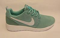 Кроссовки  женские Nike Roshe Run замшевые,мята (найк роше ран)(р.41)