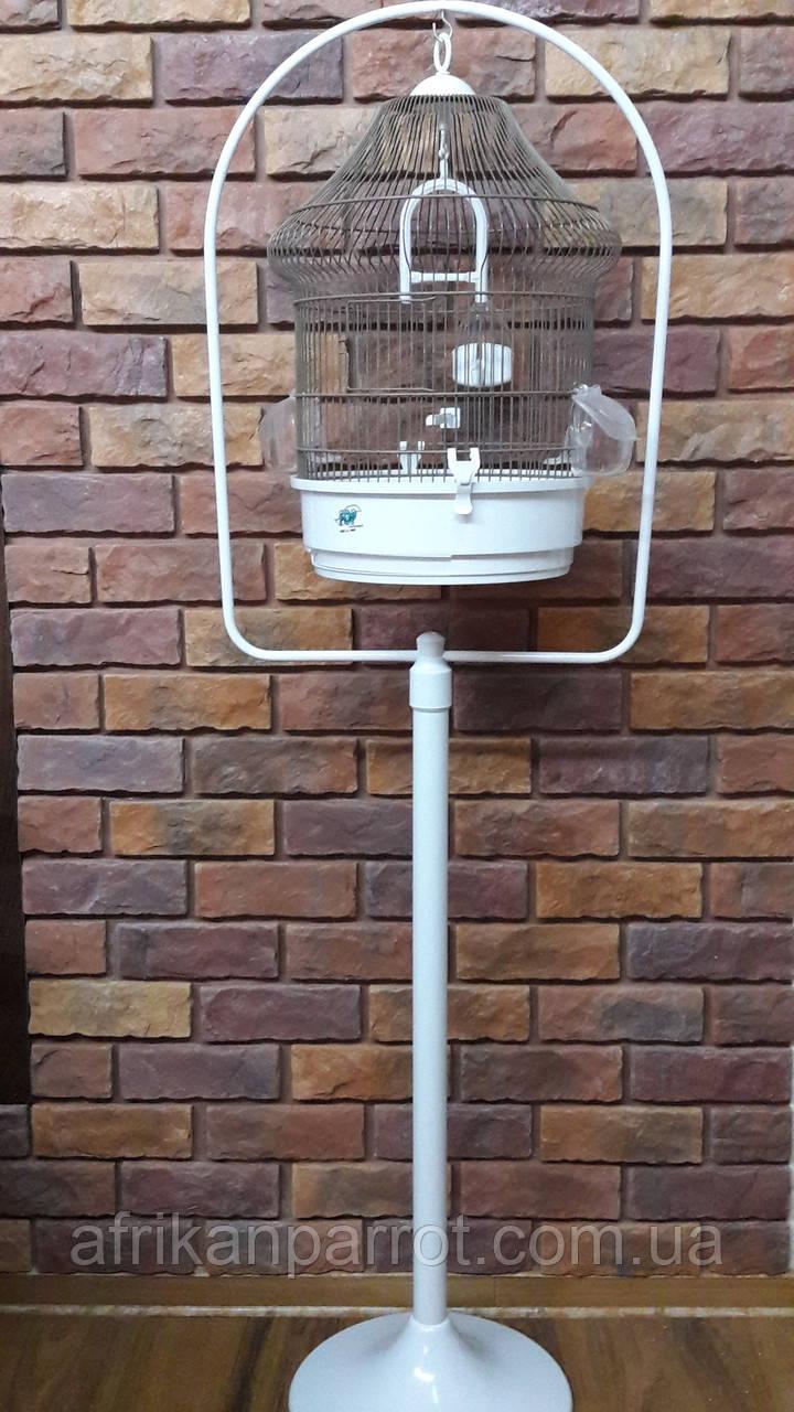 Клетка для попугаев и канареек с подставкой