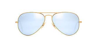 Солнцезащитные очки Ray-Ban Aviator ORIGINAL GRADIENT Gold matt /Blue RB3025 58