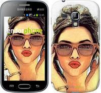 "Чехол на Samsung Galaxy S Duos s7562 Девушка_арт ""3005c-84"""