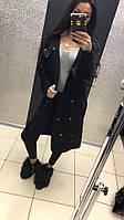 Paparazzi Fashion Женское Пальто С множеством бантиков Черное