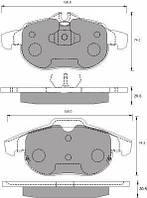 Колодки тормозные дисковые, комплект  FOMAR ROULUNDS 689581