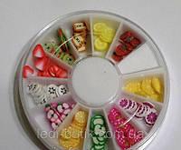 Фимо штанги фрукты для дизайна ногтей 120 шт., фото 1