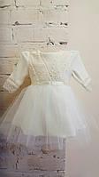 Нарядное велюровое платье с повязкой на выписку, крещение, праздник