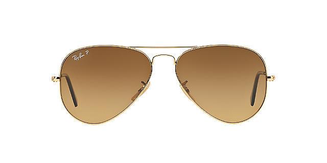 Солнцезащитные очки Ray-Ban Aviator ORIGINAL Gold/Brown Flash Gradient RB3025 58