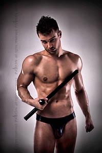 Сексуальные мужские стринги 008 THONG черные  L\XL