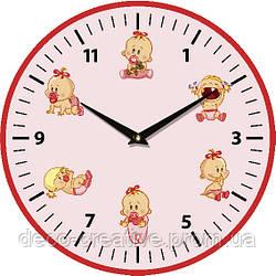 """Годинник настінний ЮТА   детские """"Vintage""""330Х330Х30мм"""