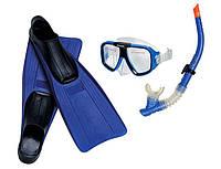 Набор 55957 маска, трубка, ласты, от 8 лет, в сетке, 67-21-17см