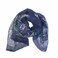 Шарф платок Темно синий цвет
