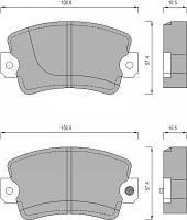 Колодки тормозные дисковые комплект  FOMAR 429081