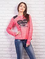 Женский свитшот из микродайвинга, цвет: розовый меланж