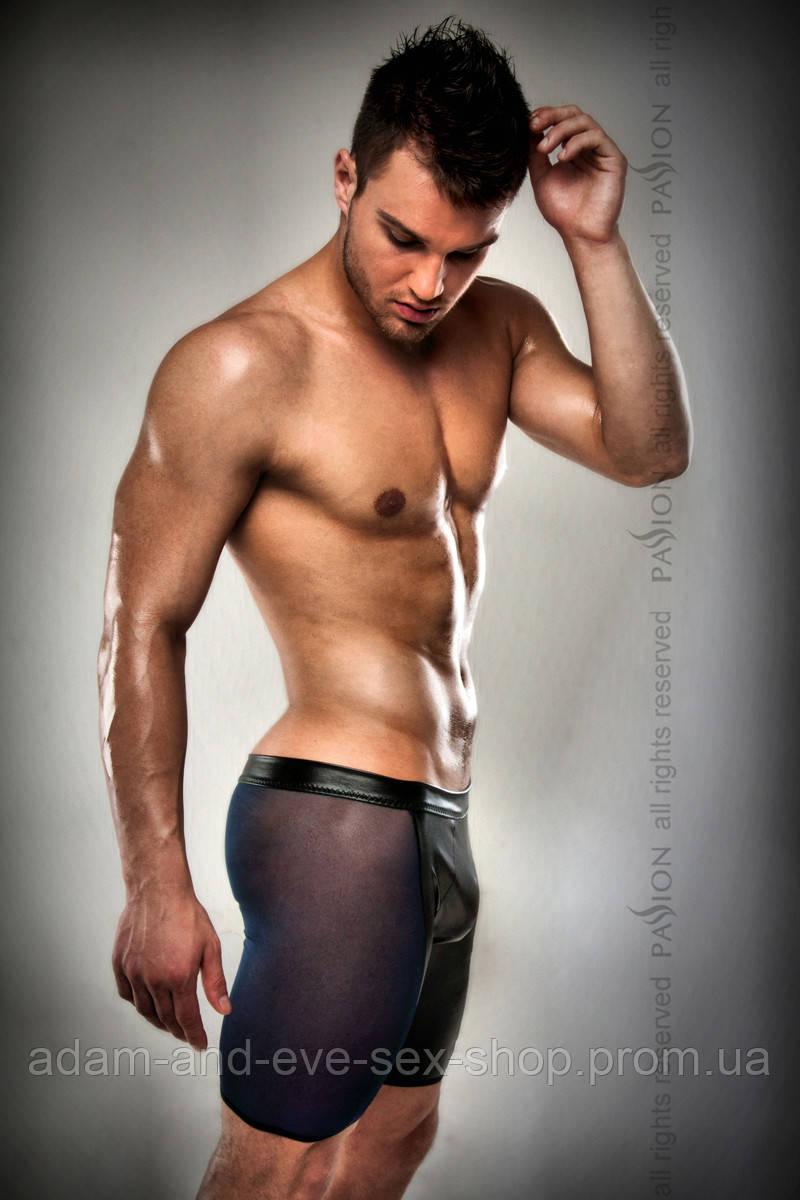 Мужские черные эротические шортики Passion 026 SHORT S\M
