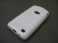 Полимерный TPU чехол Samsung i8530 Galaxy Beam (белый), фото 1