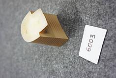 Каблук женский пластиковый 6003 h-6,2 см.черн.,беж