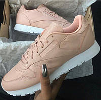 Женские Кроссовки Reebok Classic Leather Rose Cloud/White