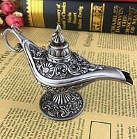 Сувенир пепельница Лампа Алладина серебро