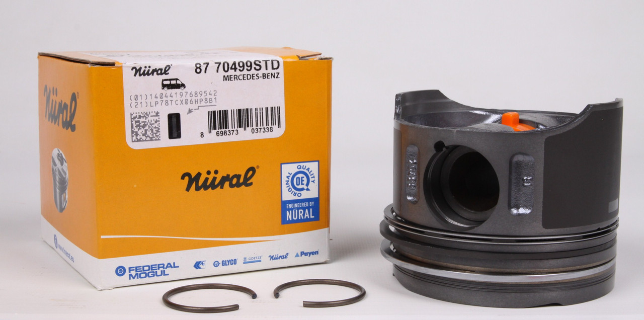 Поршень MB Sprinter OM611 STD (прямой шатун. палец 30мм) (87-70499 STD) Nural