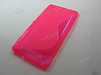 Полимерный TPU чехол Sony Xperia C3 D2502 / D2533 (розовый), фото 1