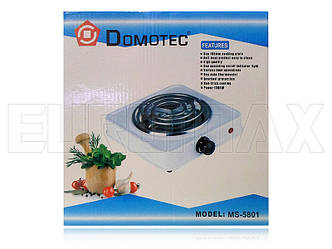 Электроплита 1 спираль Domotec 5801