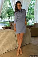 Стильное женское платье с воротничком к-03043