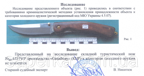 Нож складной туристический Grand Way 6357-2 W, фото 2