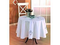 Скатерть круглая 160 Kayaoglu Q Rose кремовый