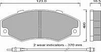 Колодки тормозные дисковые комплект FOMAR 546881
