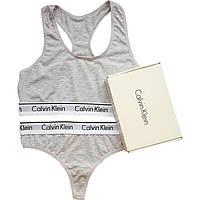 Женский комплект Calvin Klein серый , фото 1