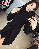 Пальто черное Вивея Украина 12129
