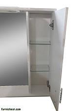 Зеркало для ванной комнаты Линеа 65-14 Поли/Черное Правое ПИК, фото 2
