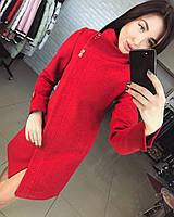 Пальто красное Вивея Украина 12131