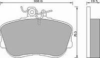 Колодки тормозные дисковые комплект FOMAR 493781