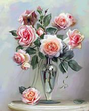 Картина за номерами - Ніжні троянди
