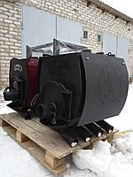 Печь булерьян отопительно варочная со стеклом и перфорацией Hott (Хотт) Тип-02 -400 м3