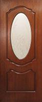 Дверь межкомнатная Оливия с контурным рисунком на стекле