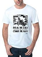 Break The Wall - Футболка Мужская с Дизайном