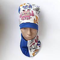 Детская трикотажная шапка с хомутом для девочки 7-11 лет оптом