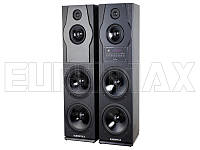 Акустические колонки EUROMAX 30х33х110см, 2х160Вт, Bluetooth, караоке, пульт ДУ (EU2530)