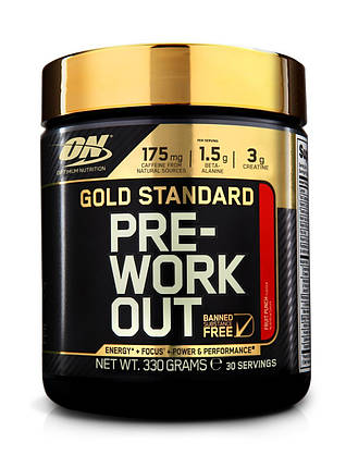 Gold Standard Pre-Workout Optimum Nutrition 330 g, фото 2