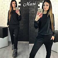 Костюм черный с манжетами 12161