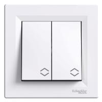 Выключатель 2-клавишный проходной белый Asfora Schneider (EPH0600121)