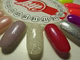 Гель-лак My Nail №118 (прозрачный с мелкими серебристыми и крупными белыми блесточками) 9 мл, фото 4