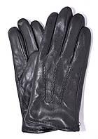 Мужские кожаные перчатки на черном меху