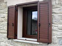Алюминиевые ставни на окна с не поворотными ламелями