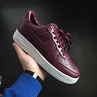 Кроссовки Nike Air force 1 low maroon