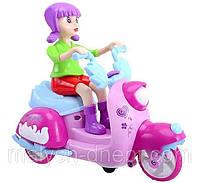 Мотоцикл 101A с девочкой музыкальный
