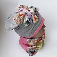 Детская трикотажная с хамутом шапка  8-11 лет оптом