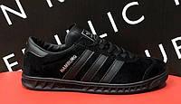 Мужские кроссовки Adidas Hamburg Triple Black